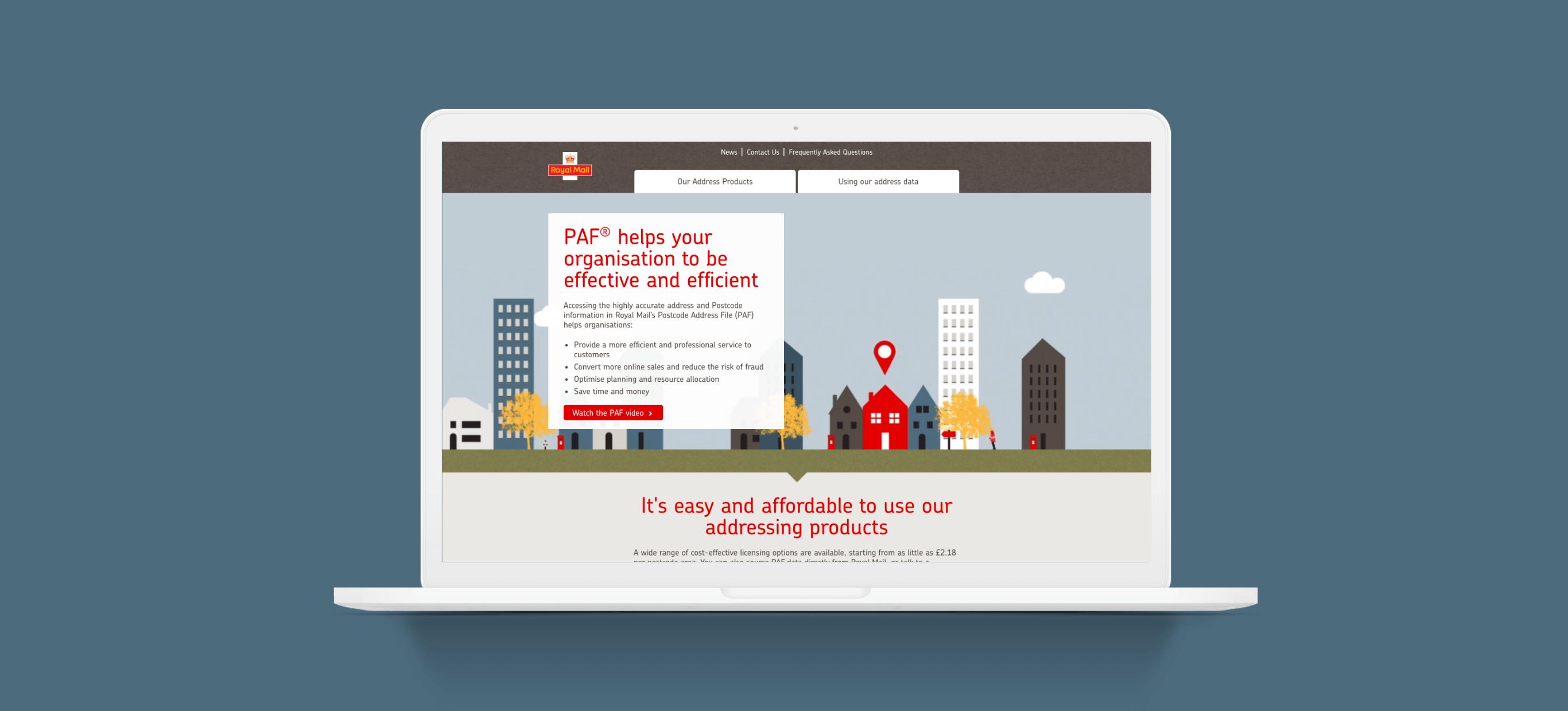 Postal Address Finder for Royal Mail - Making the UK's Postcode Address Finder easier for people to use