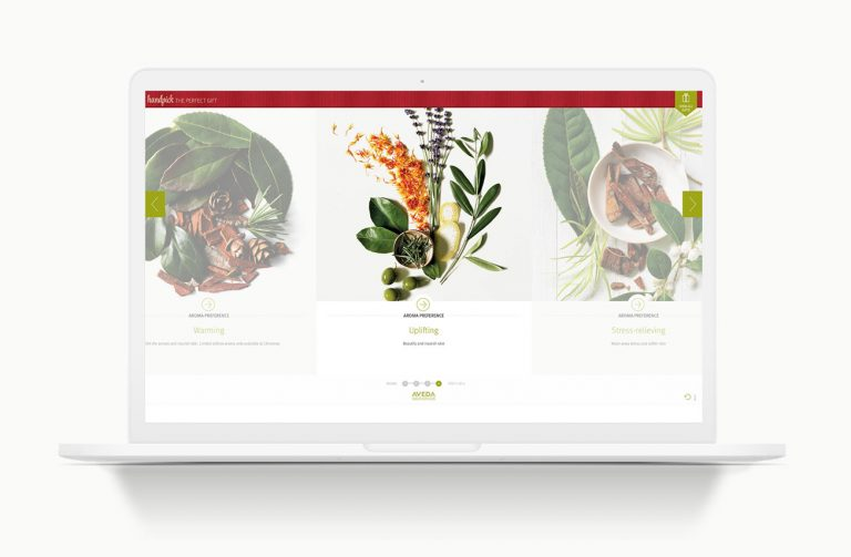 Aveda - 'Handpick the perfect gift' a web based app from Aveda professionals