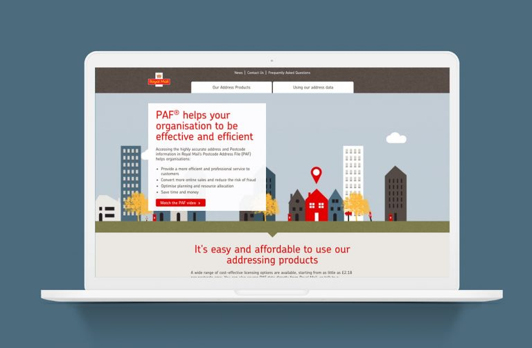 Royal Mail - Making the UK's Postcode Address Finder easier for people to use