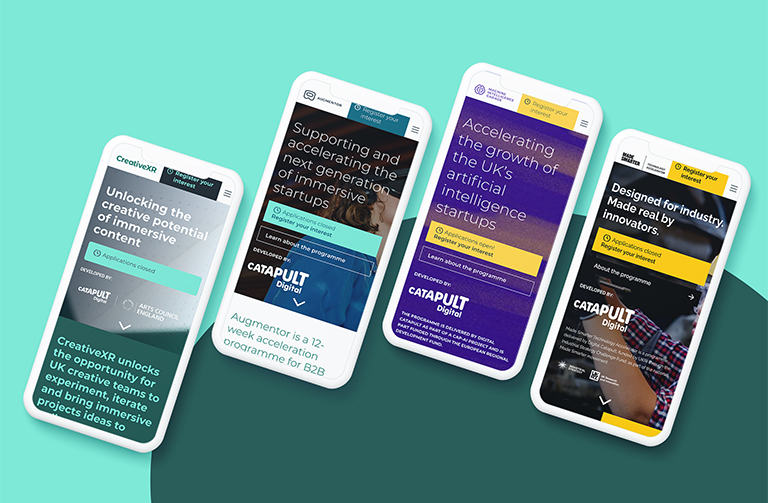 Digital Catapult - A design system that supports digital innovation through acceleration programmes